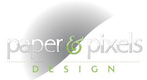 Paper & Pixels Design Mobile Logo